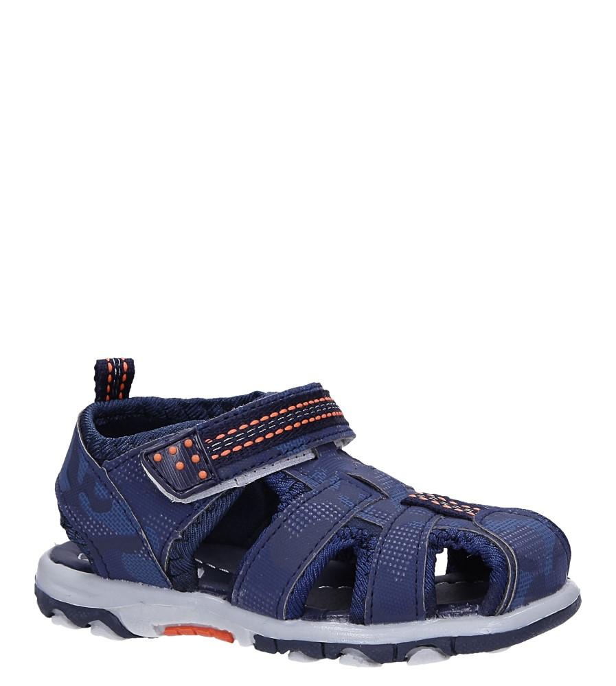 Granatowe sandały na rzep Casu JF15 producent Casu
