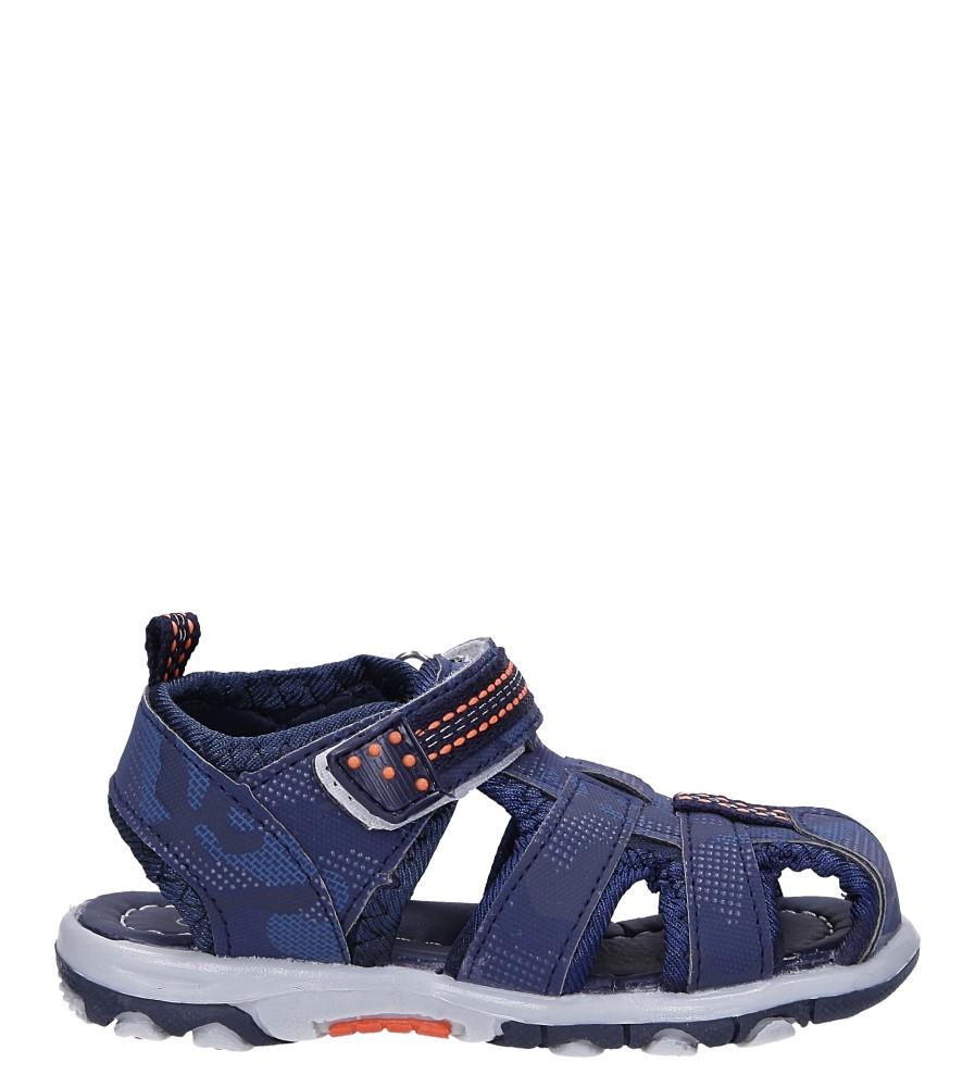 Granatowe sandały na rzep Casu JF15 model JF15