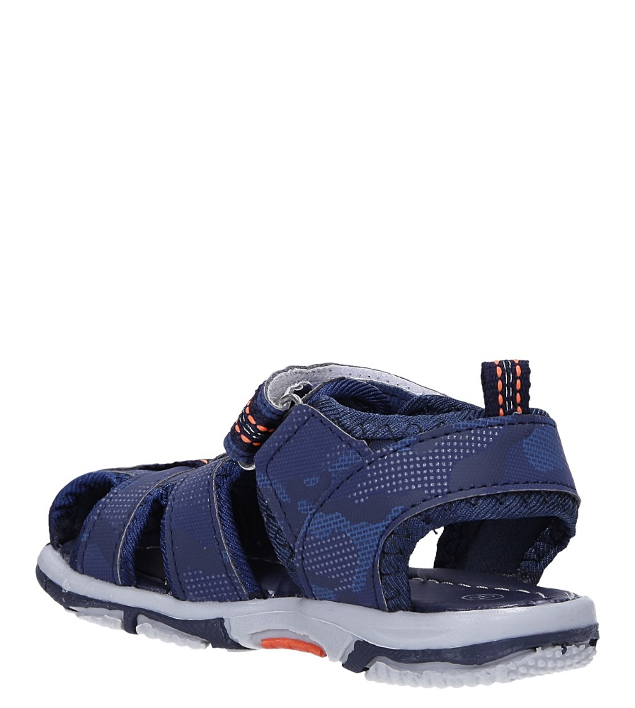 Granatowe sandały na rzep Casu JF15 sezon Lato