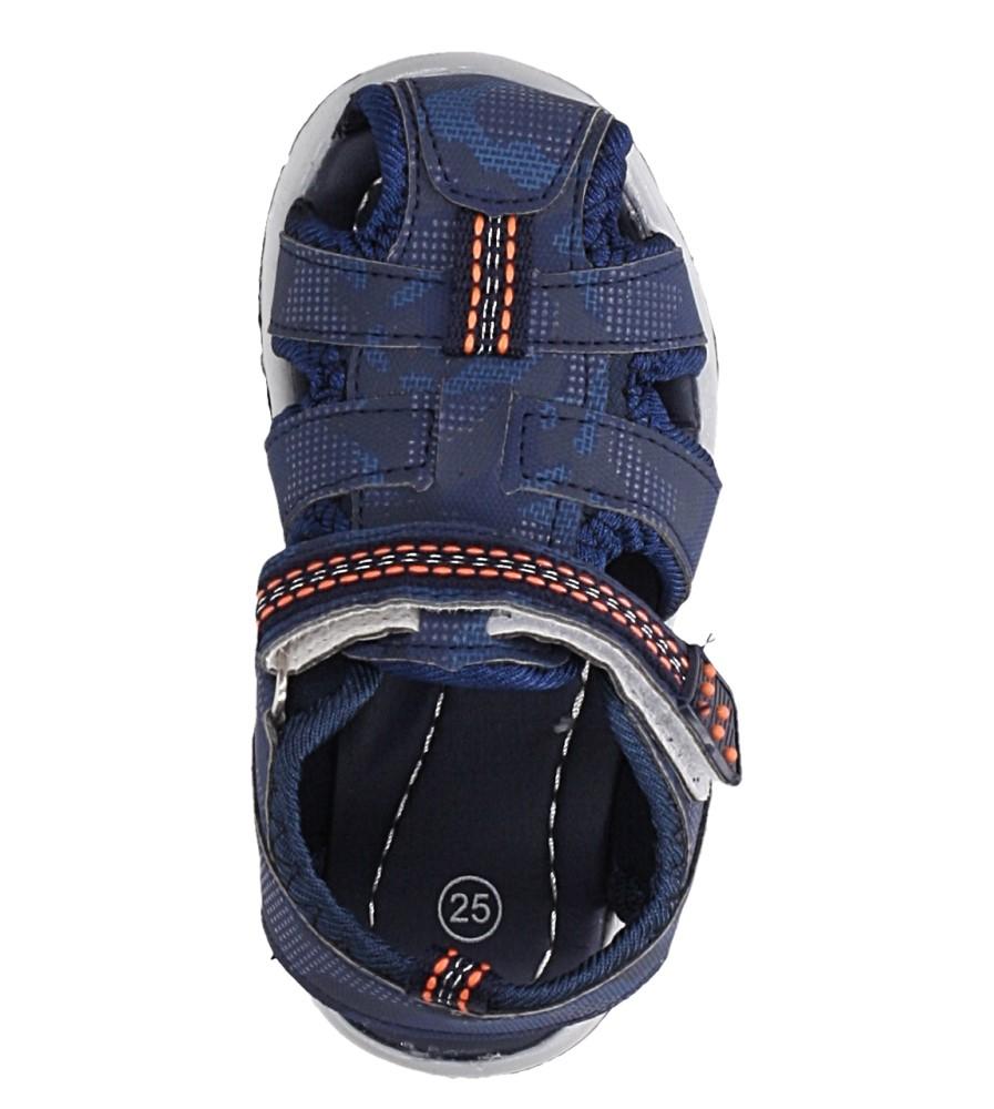 Granatowe sandały na rzep Casu JF15 kolor granatowy