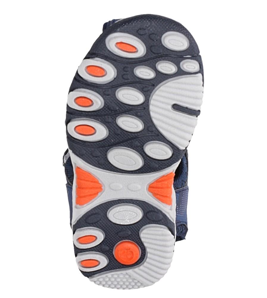 Granatowe sandały na rzep Casu JF15 wysokosc_platformy 1 cm
