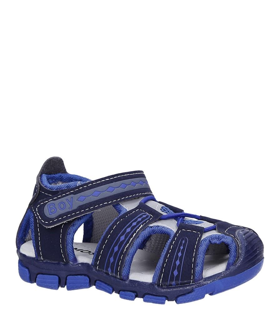 Granatowe sandały na rzep Casu Y106B