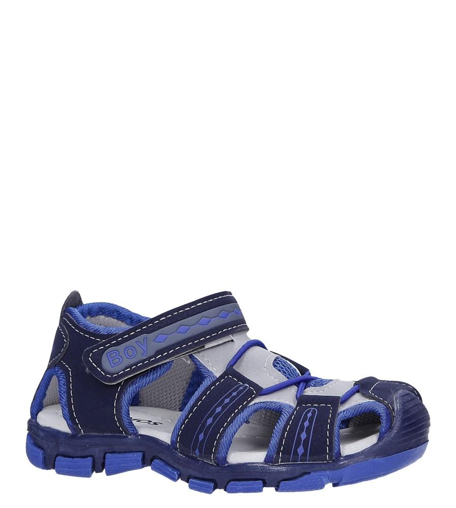 Granatowe sandały na rzep Casu Y106C