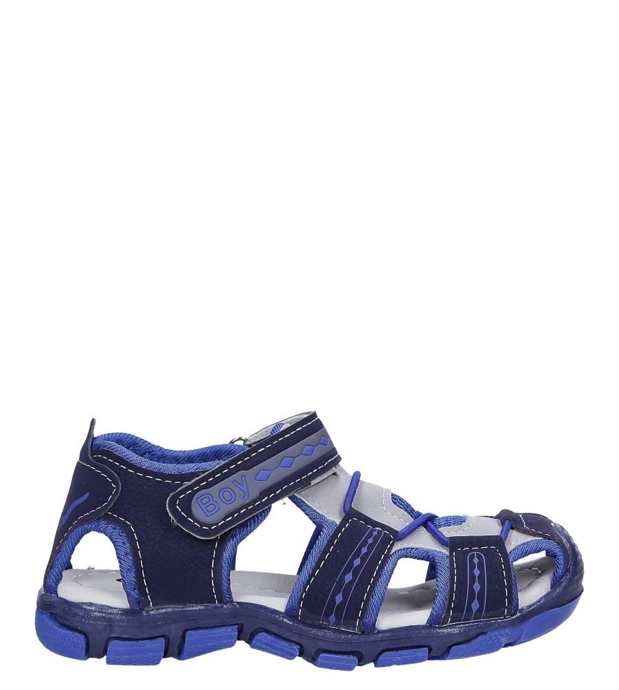 Granatowe sandały na rzep Casu Y106C model Y106C