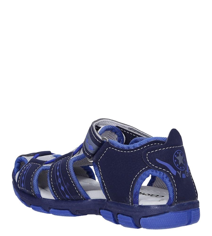 Granatowe sandały na rzep Casu Y106C sezon Lato