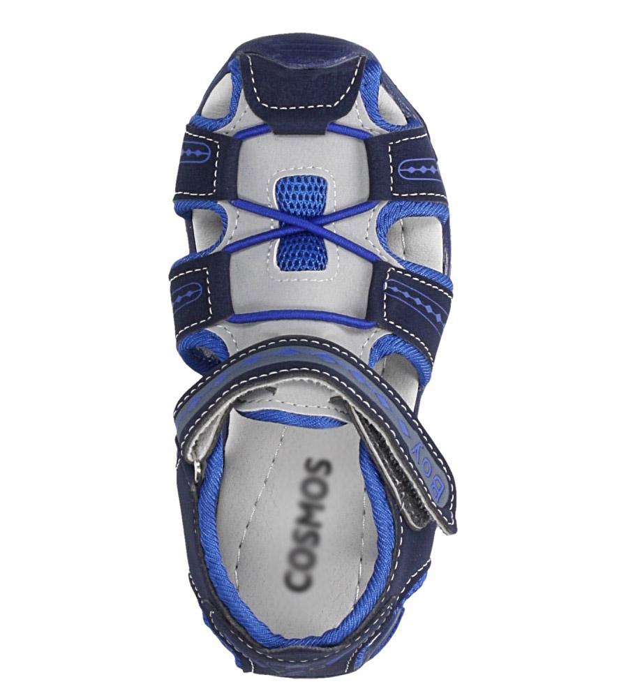 Granatowe sandały na rzep Casu Y106C kolor granatowy