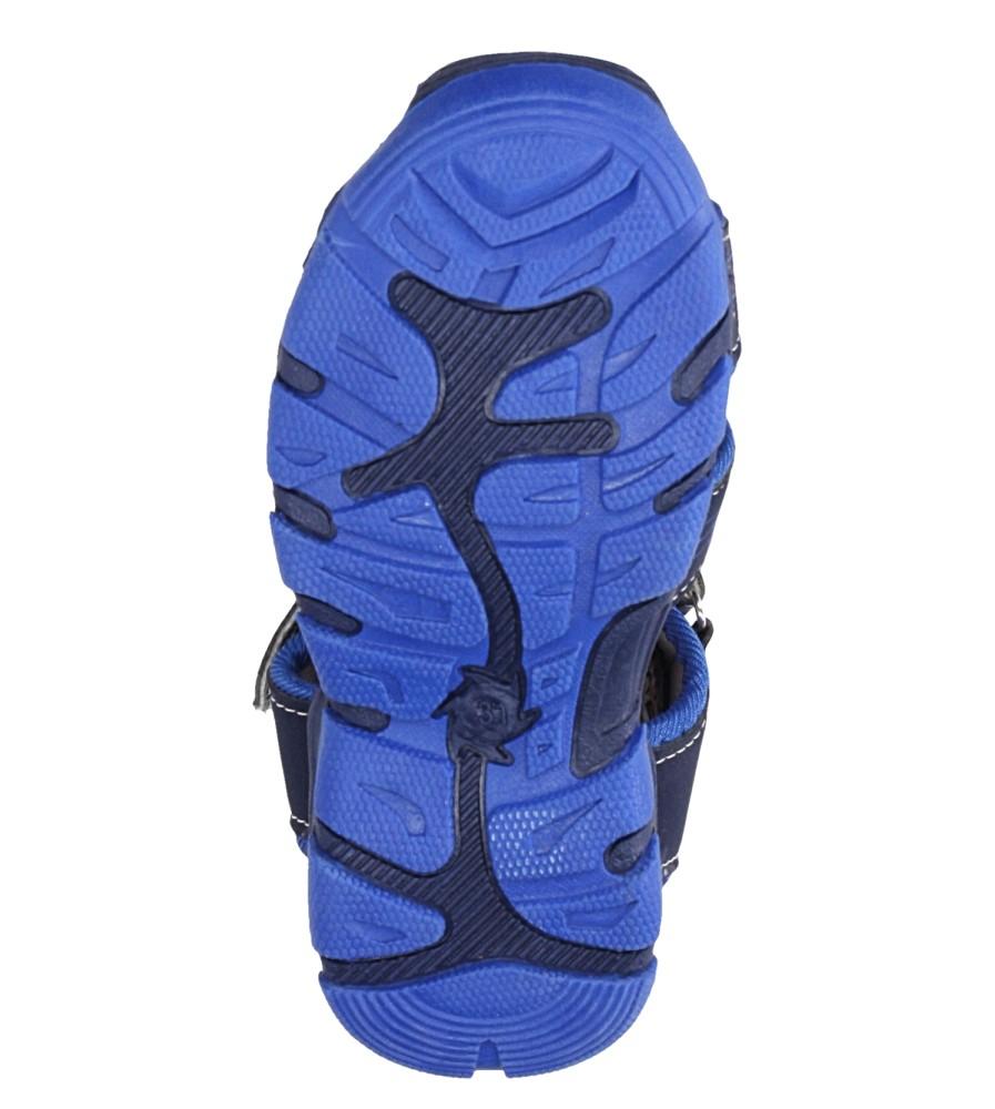 Granatowe sandały na rzep Casu Y106C wysokosc_platformy 1 cm