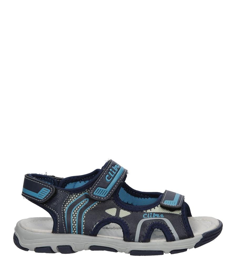 Granatowe sandały na rzep Casu Z-252