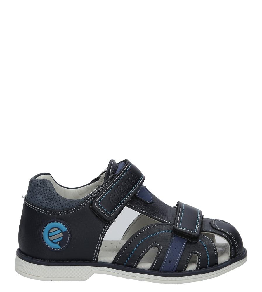 Granatowe sandały na rzep Casu Z-284