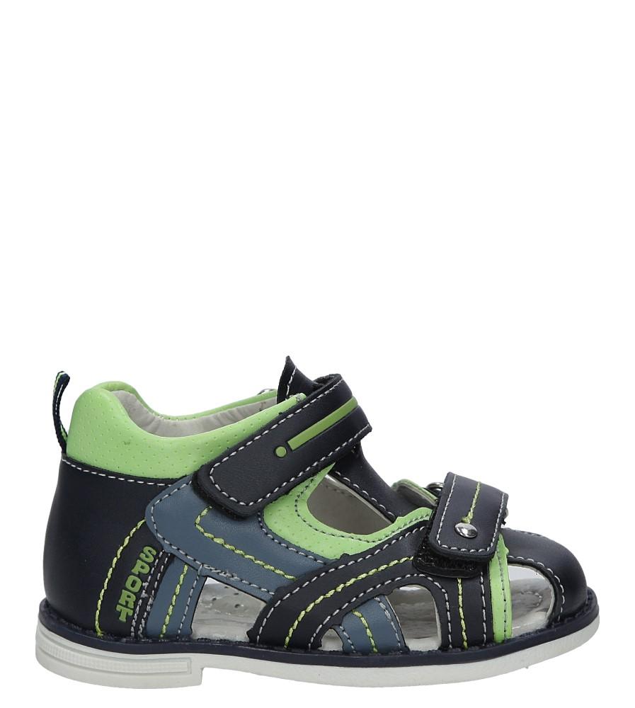 Granatowe sandały na rzep Casu Z-293