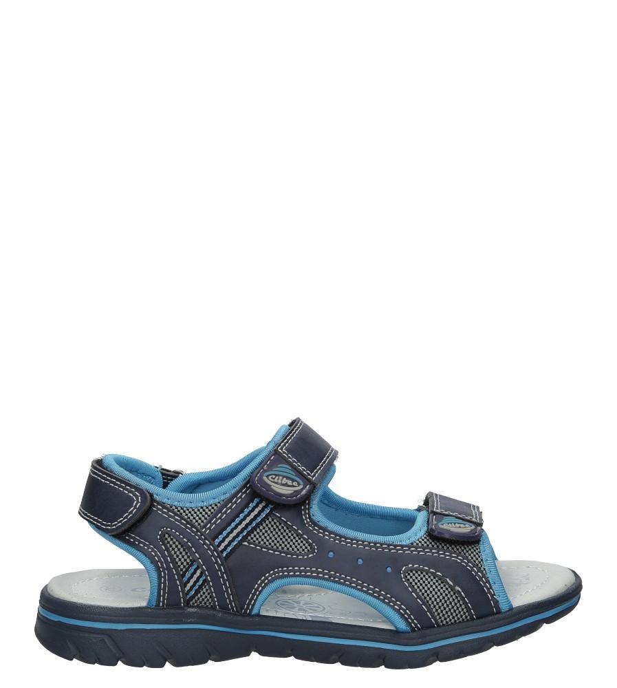 Granatowe sandały na rzep Casu Z-312