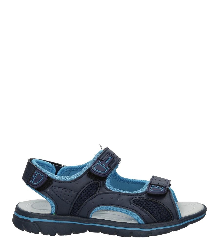 Granatowe sandały na rzep Casu Z-314