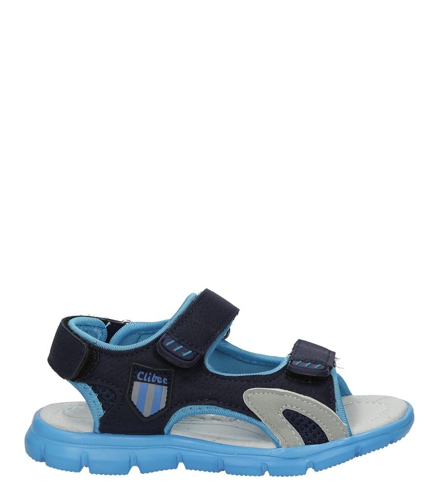 Granatowe sandały na rzep Casu Z-317