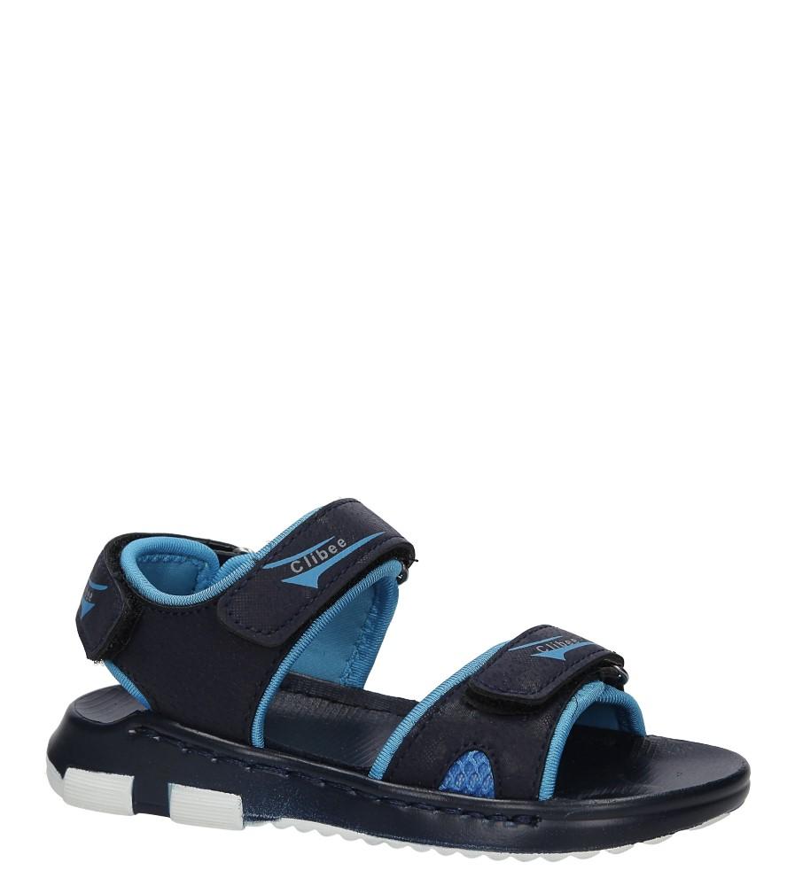 Granatowe sandały na rzep Casu Z-319