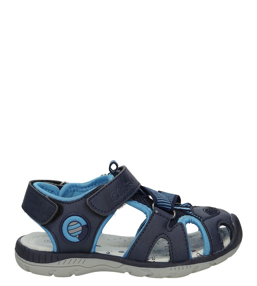 Granatowe sandały na rzep Casu Z-326