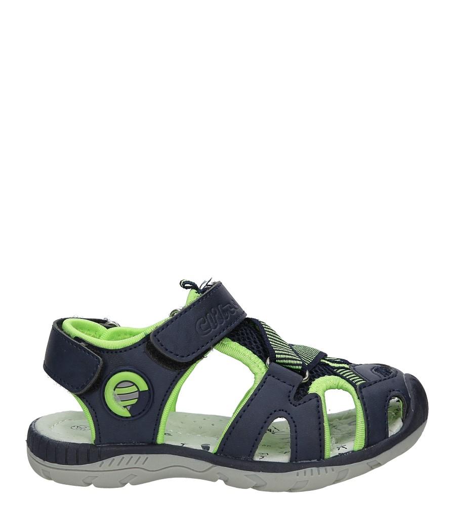 Granatowe sandały na rzep Casu Z-328