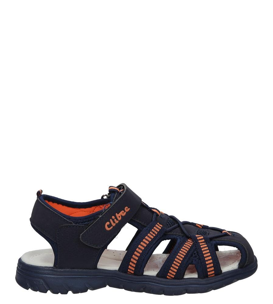 Granatowe sandały na rzep Casu Z-329