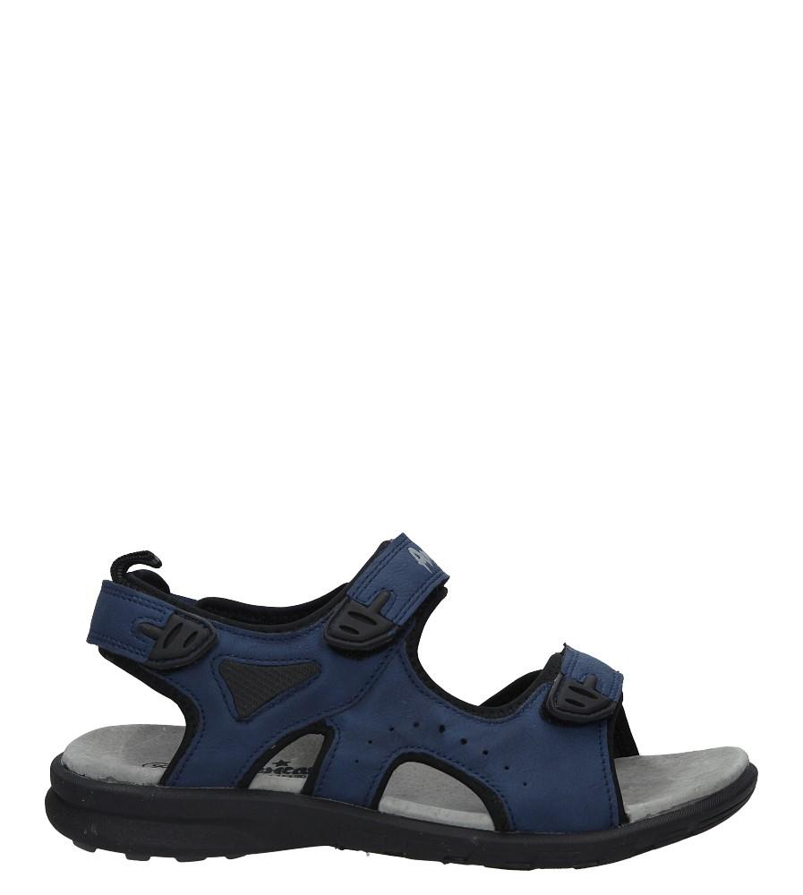 Granatowe sandały na rzepy American BIF1906