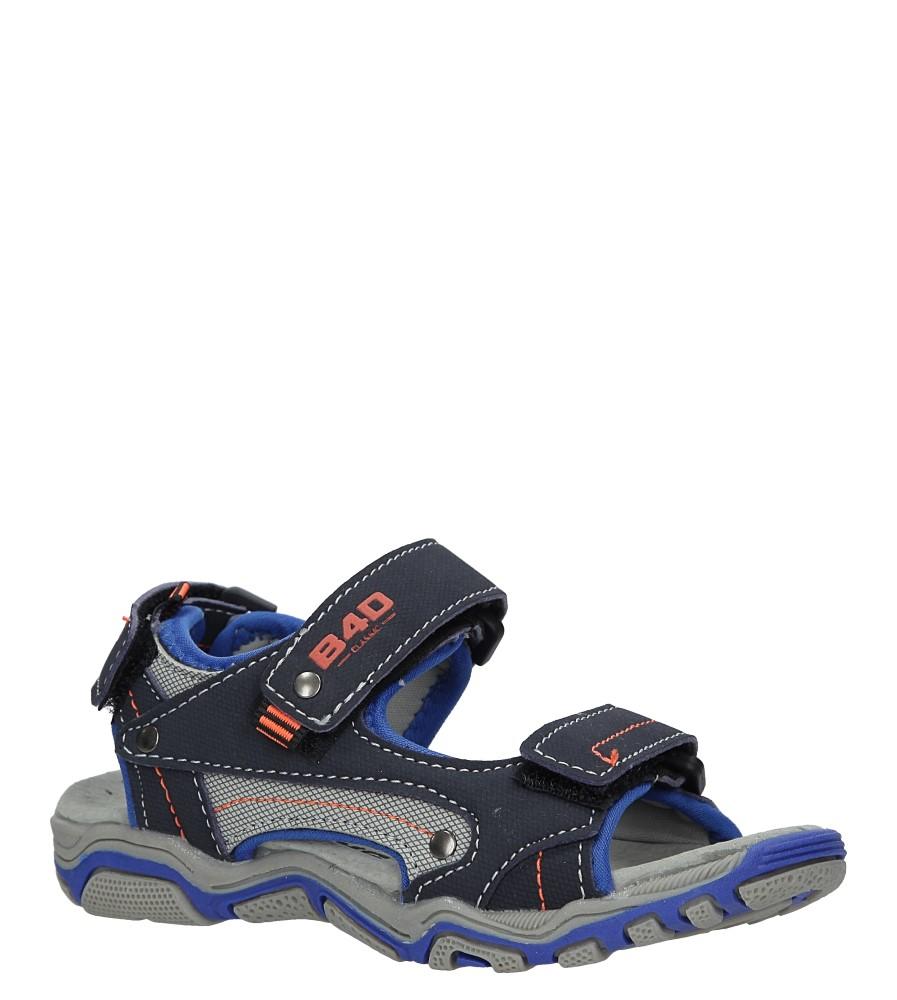 Granatowe sandały na rzepy Casu 3SD9137