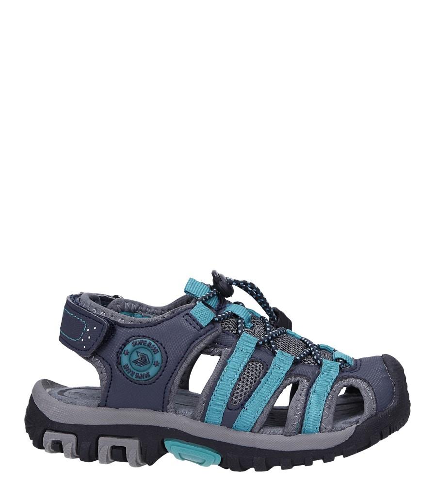 Granatowe sandały na rzepy Casu 5540