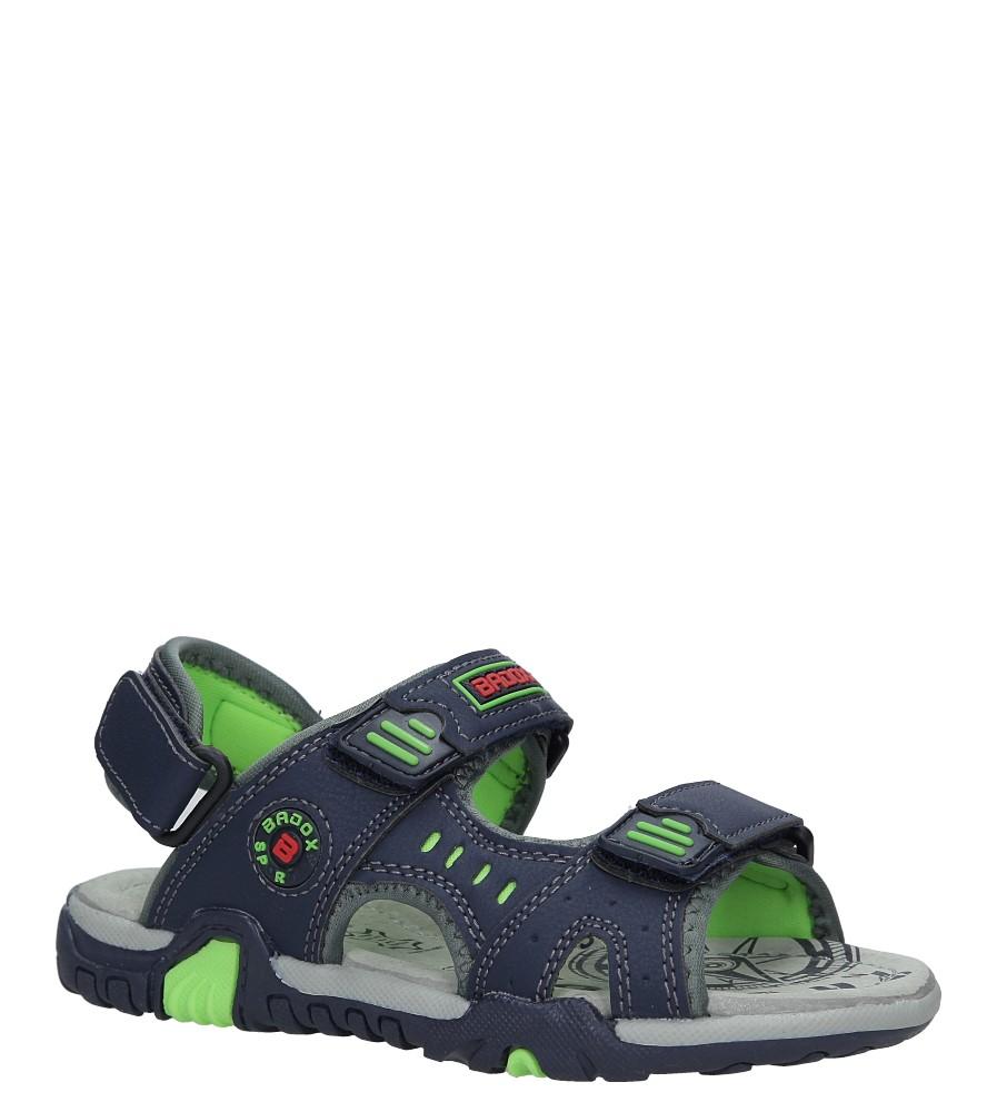 Granatowe sandały na rzepy Casu 5SD9070