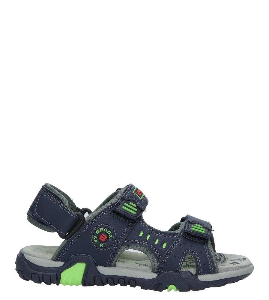 Granatowe sandały na rzepy Casu 5SD9070 model 5SD9070