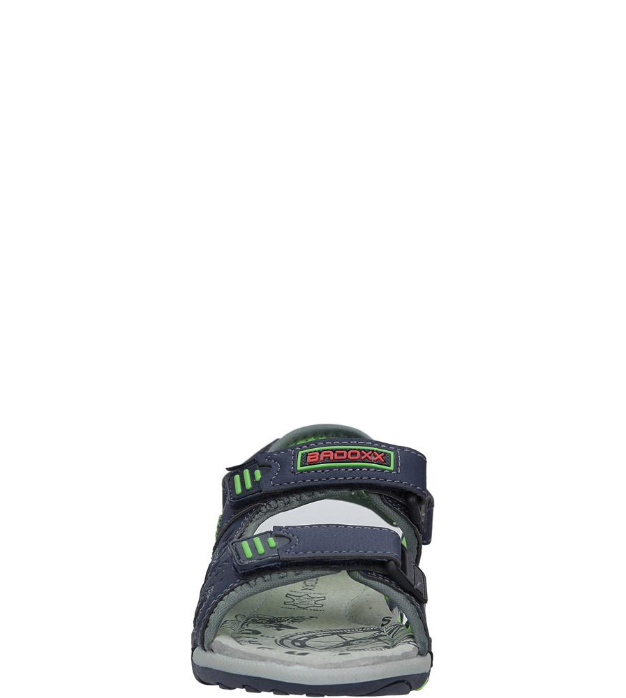 Granatowe sandały na rzepy Casu 5SD9070 sezon Lato