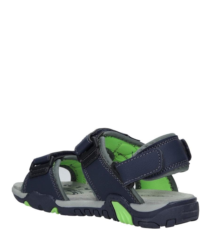 Granatowe sandały na rzepy Casu 5SD9070 kolor granatowy