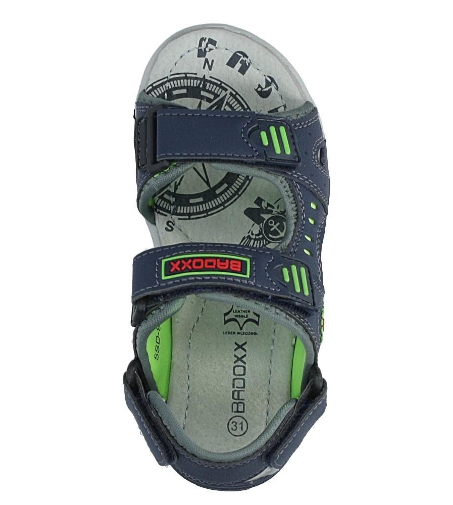 Granatowe sandały na rzepy Casu 5SD9070 wysokosc_obcasa 2 cm