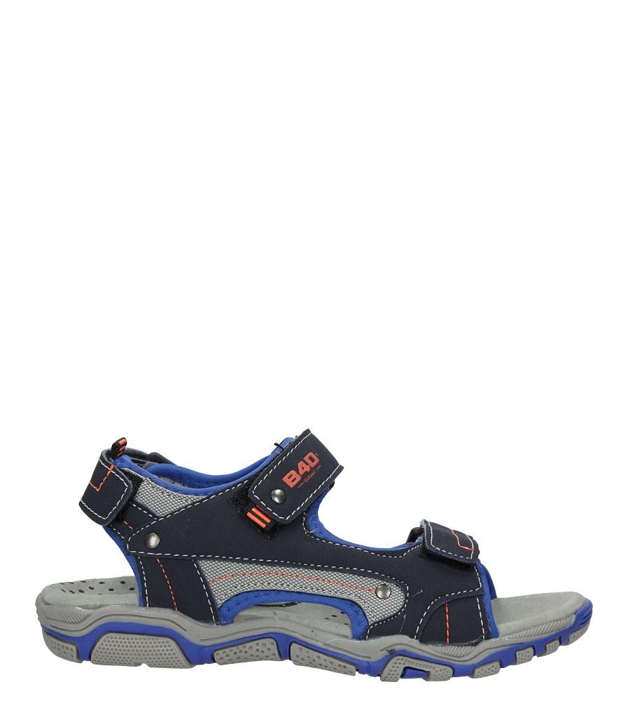 Granatowe sandały na rzepy Casu 5SD9137