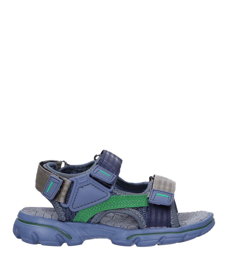 Granatowe sandały na rzepy Casu 7036