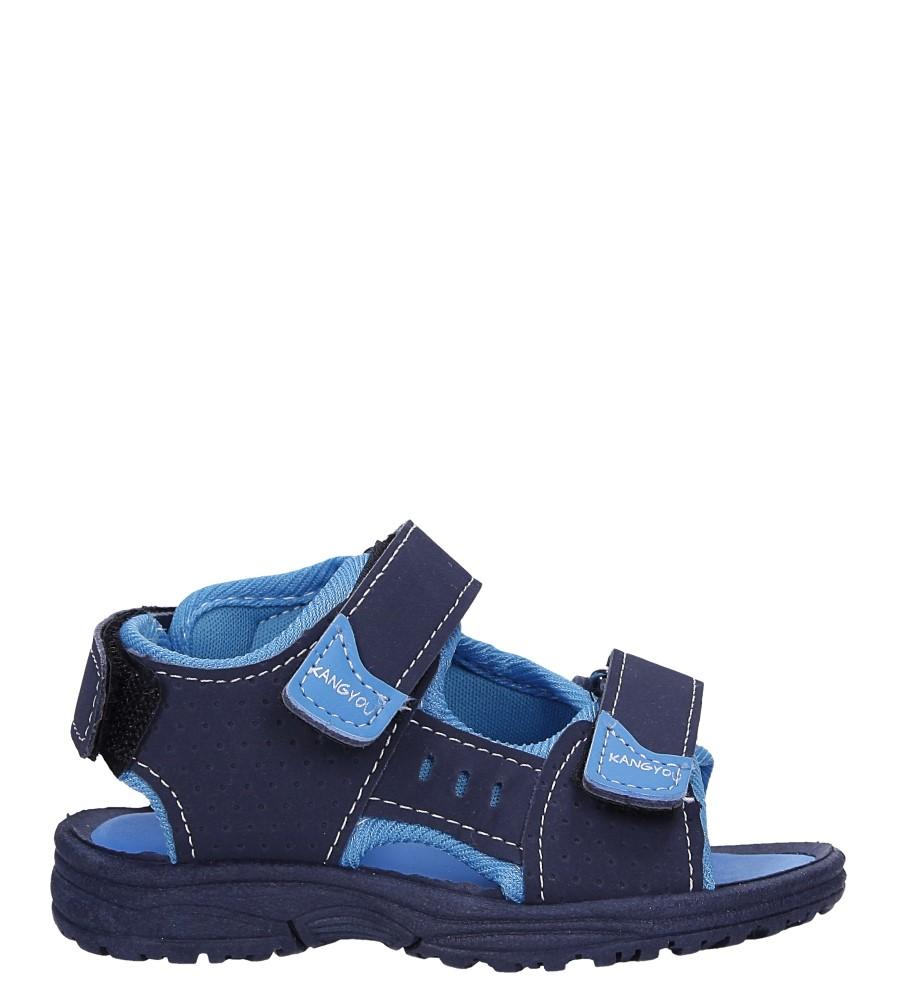 Granatowe sandały na rzepy Casu 90