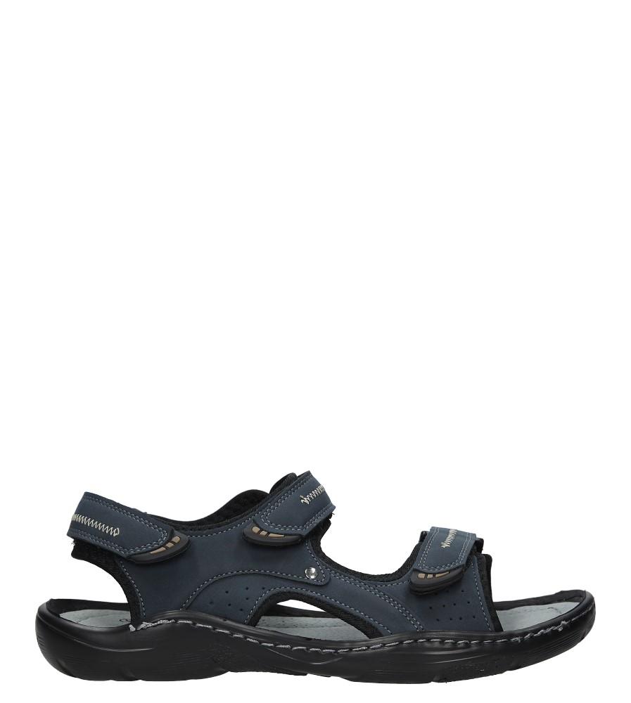 Granatowe sandały na rzepy Casu 9S-FH86408