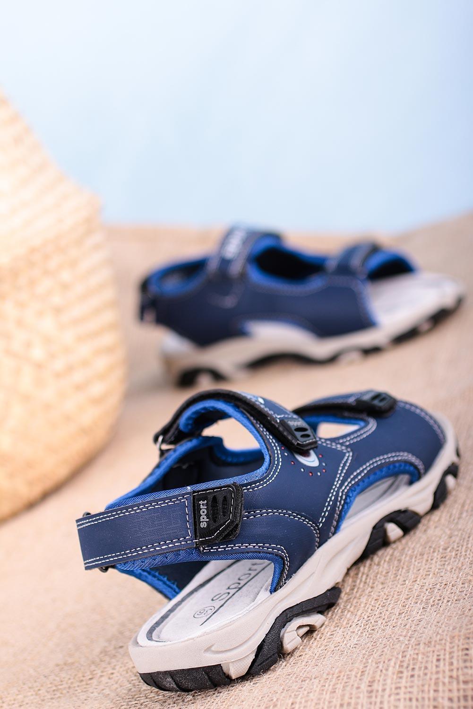 Granatowe sandały na rzepy Casu H6904 granatowy