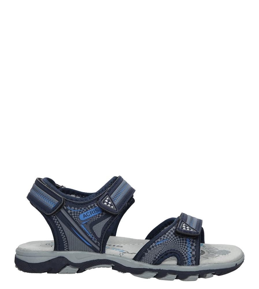 Granatowe sandały na rzepy Casu HH720C