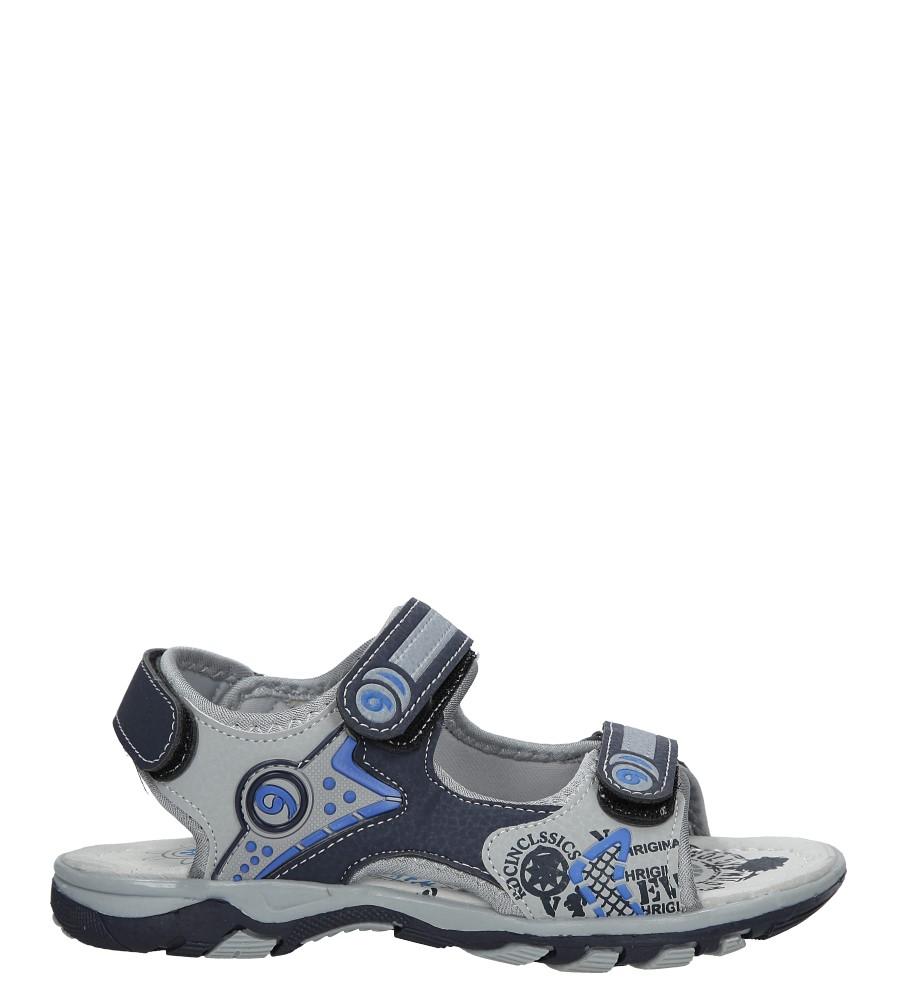 Granatowe sandały na rzepy Casu HH722C