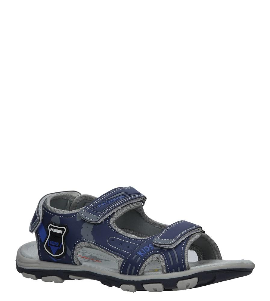Granatowe sandały na rzepy Casu HT593B