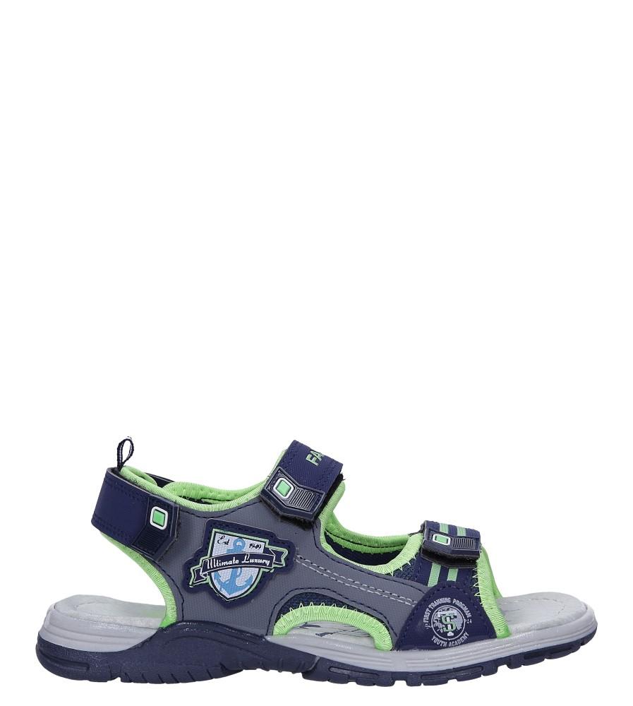 Granatowe sandały na rzepy Casu JF02