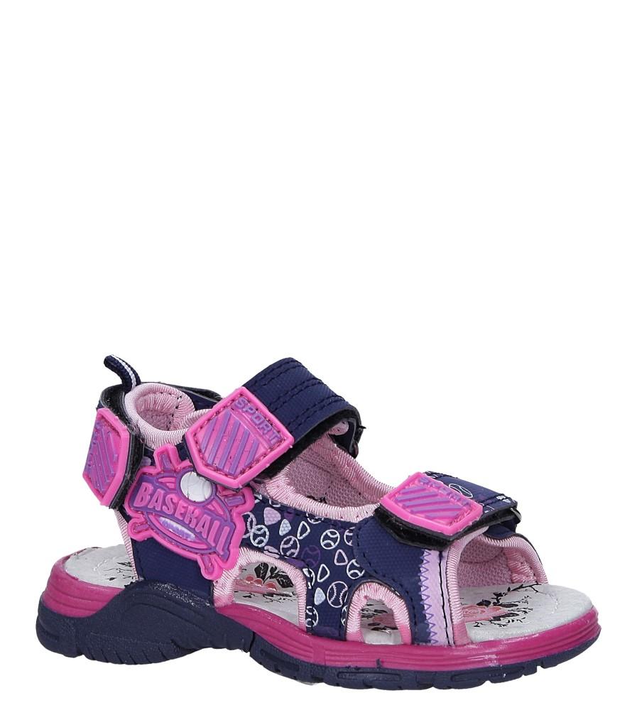 Granatowe sandały na rzepy Casu LA80 producent Casu