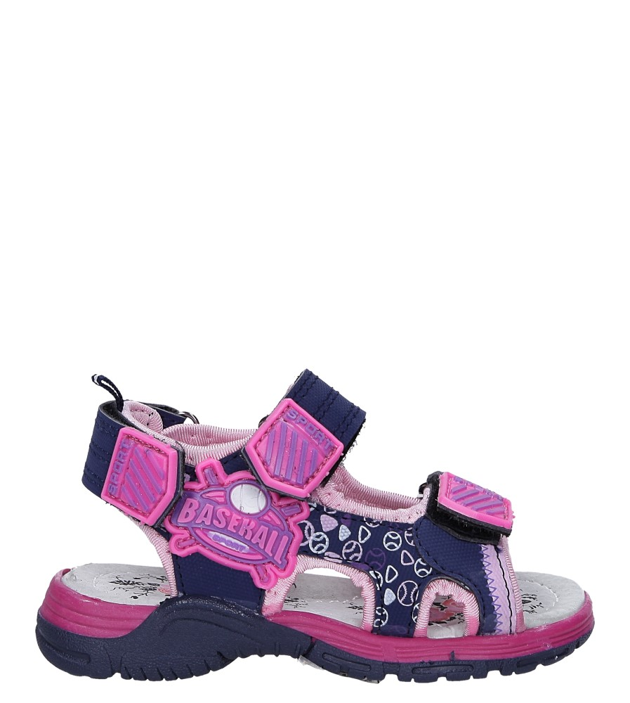 Granatowe sandały na rzepy Casu LA80 model LA80
