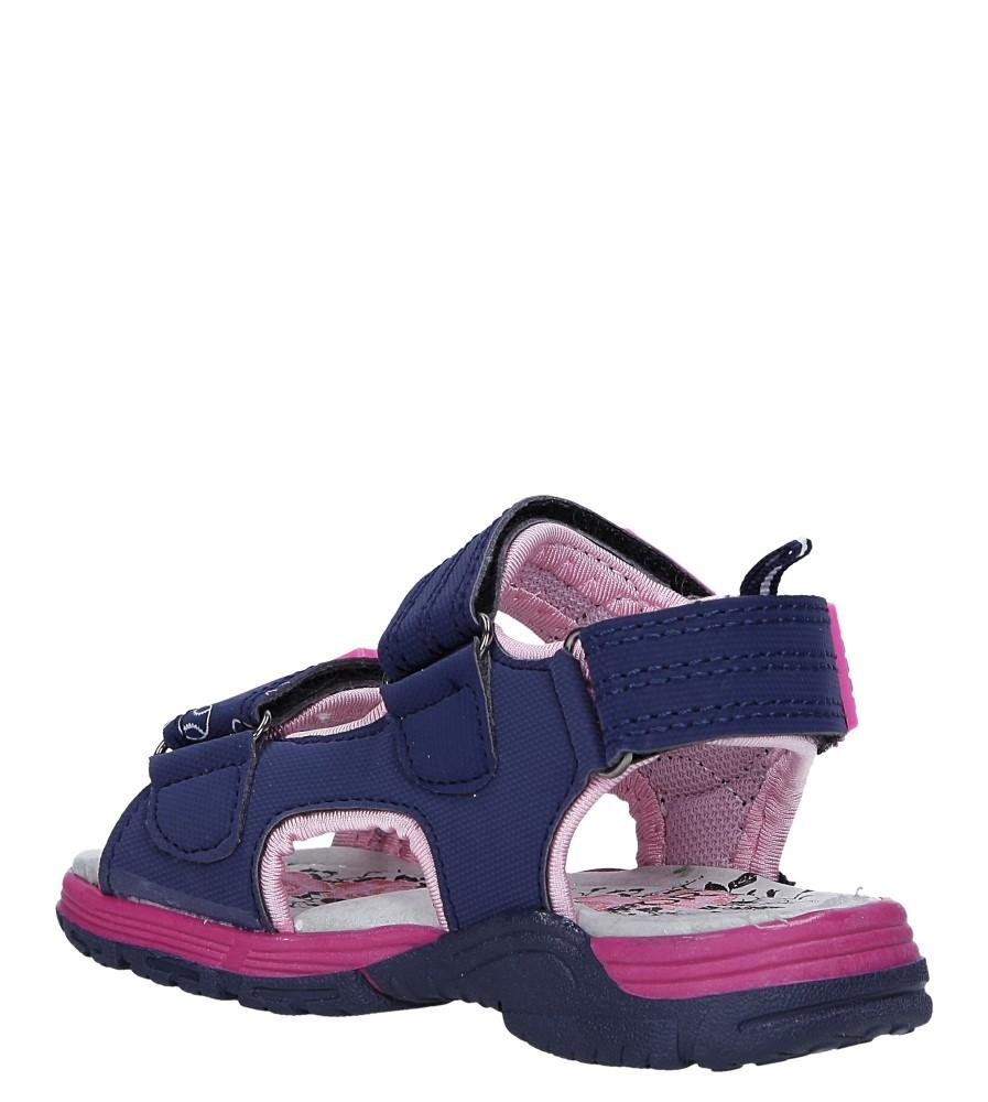 Granatowe sandały na rzepy Casu LA80 sezon Lato