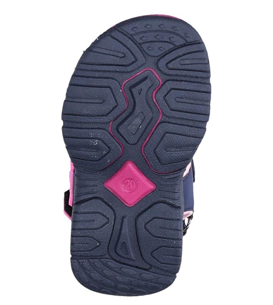 Granatowe sandały na rzepy Casu LA80 wysokosc_platformy 1 cm