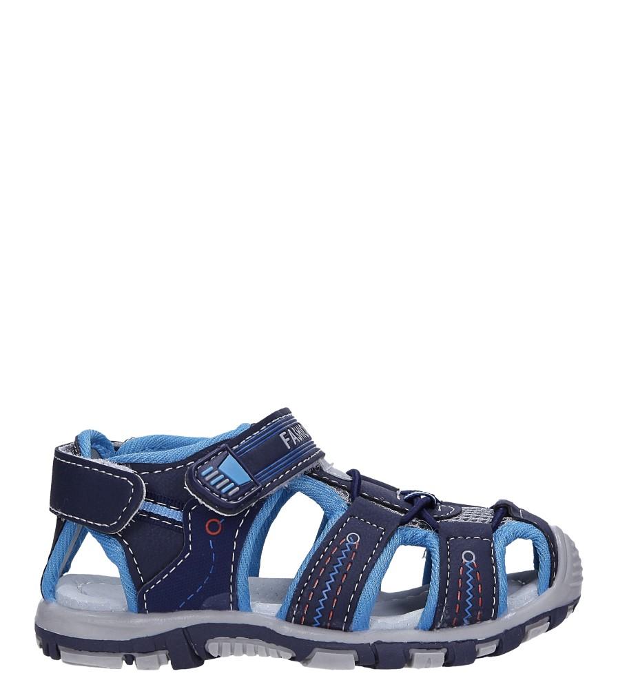 Granatowe sandały na rzepy Casu LA90