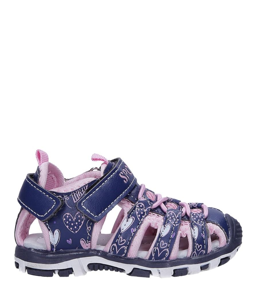 Granatowe sandały na rzepy Casu LA92