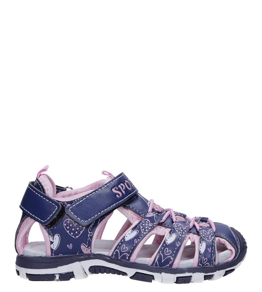 Granatowe sandały na rzepy Casu LA93