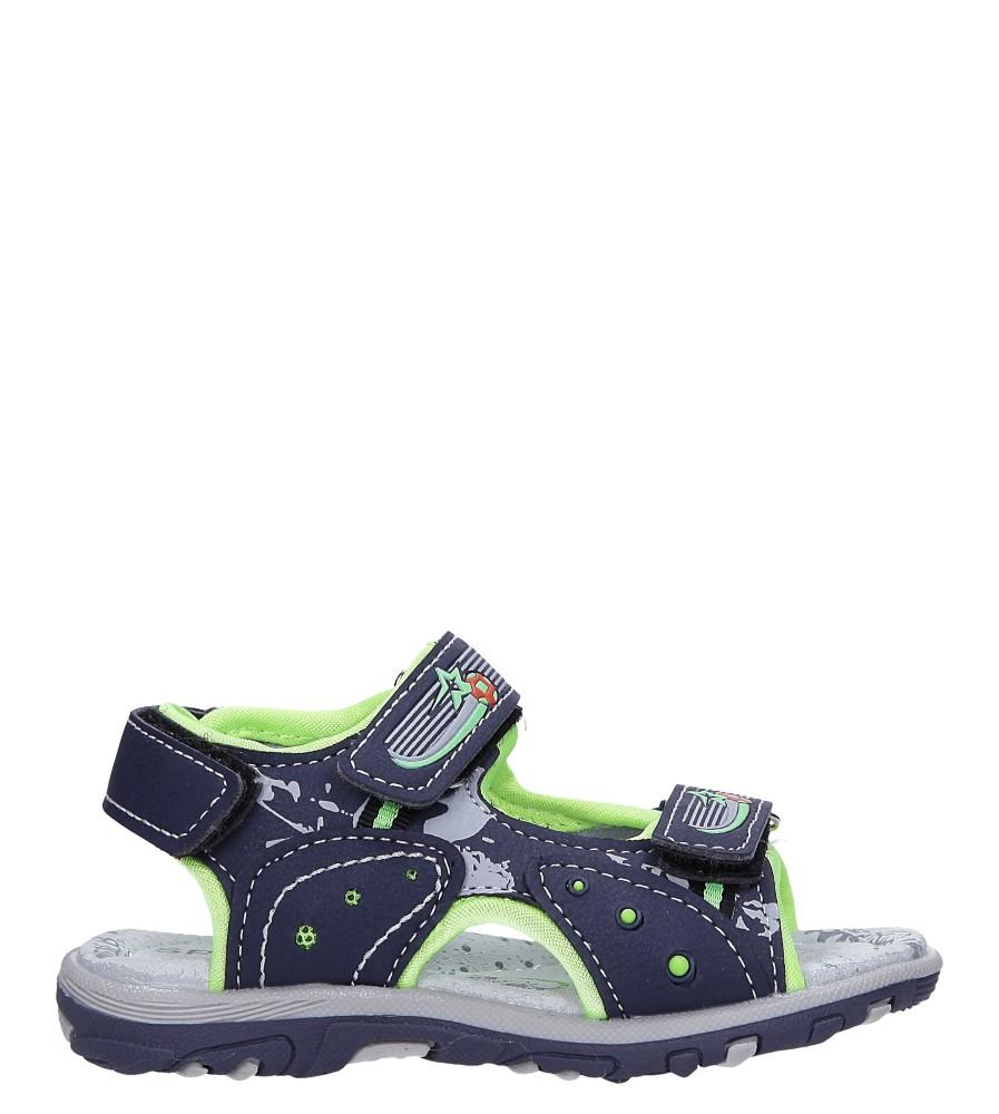 Granatowe sandały na rzepy Casu LA95