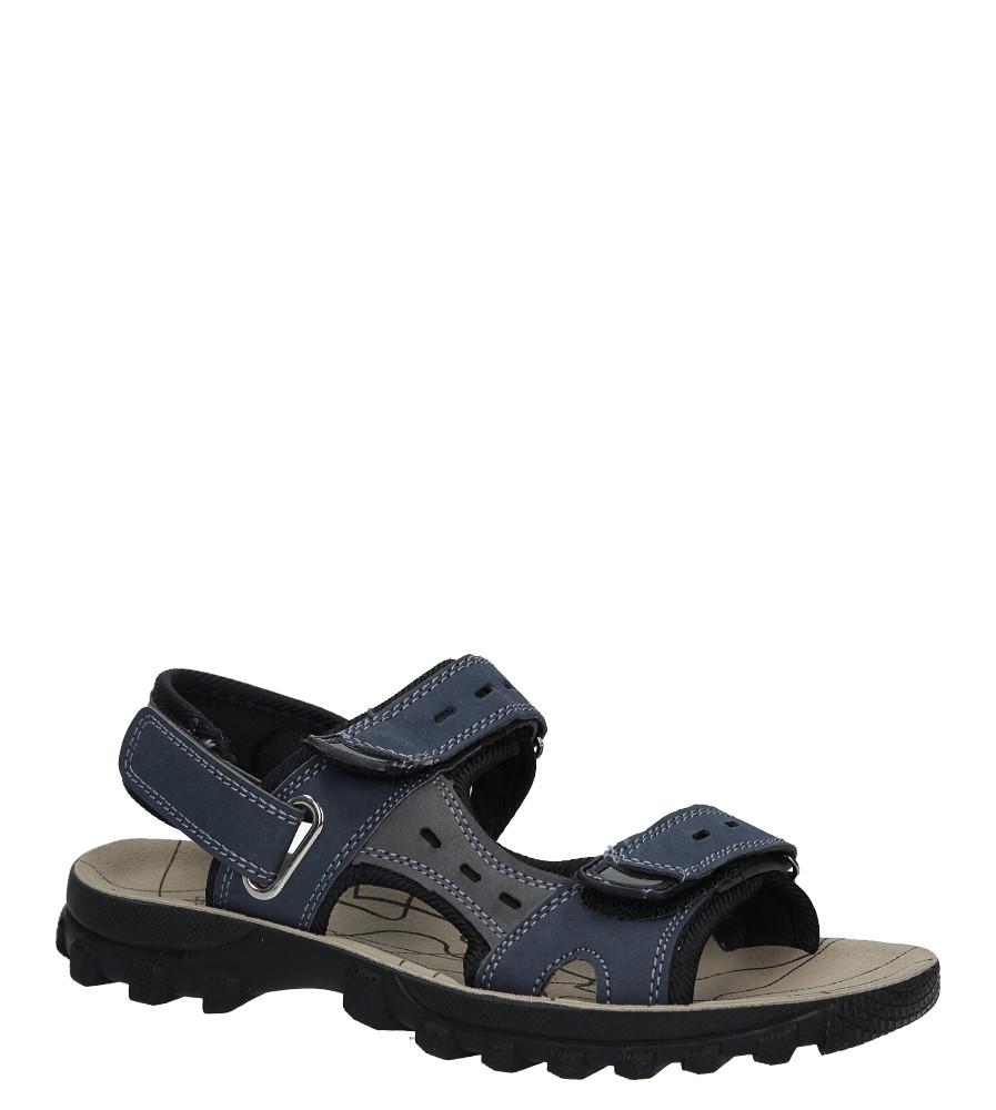 Granatowe sandały na rzepy Casu M03