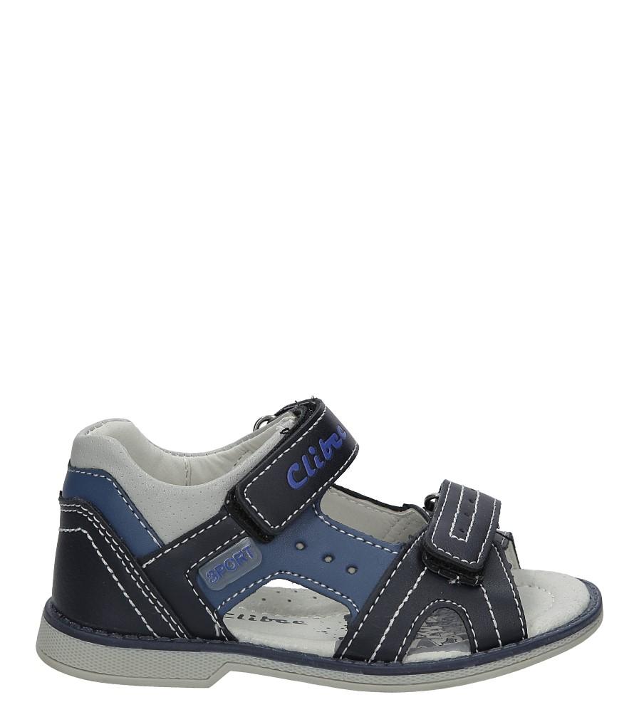 Granatowe sandały na rzepy Casu Z-285