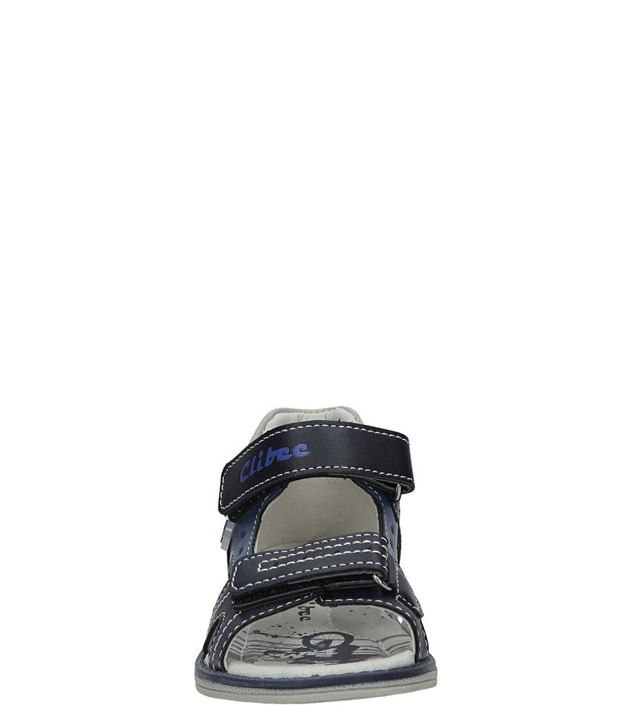 Granatowe sandały na rzepy Casu Z-285 sezon Lato