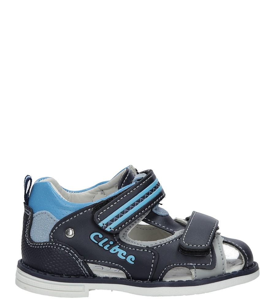Granatowe sandały na rzepy Casu Z-292